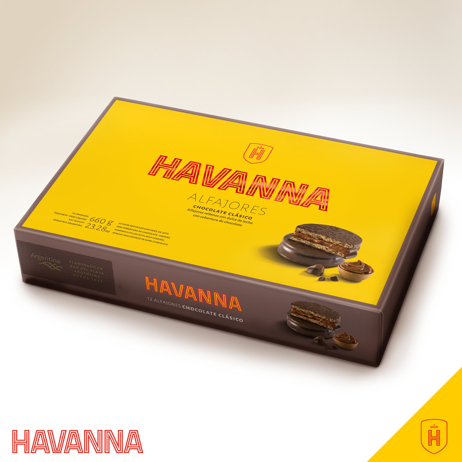 Alfajor de Chocolate 12 unidades
